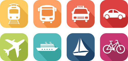 Icône de véhicules de transport Fototapete