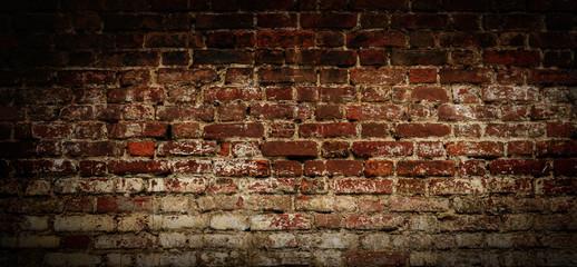 Vintage red brick Wall .