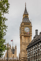 Big Ben Clock Tower with the  Parliament House behind, London, England