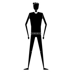 Оригинальный, абстрактный мужской силуэт. Простая векторная иллюстрация.