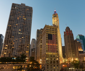 Fototapete - Chicago 4th of July