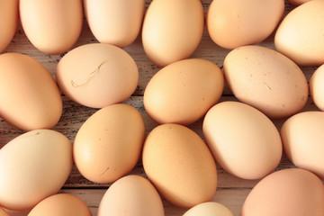 Hühnereier Tisch Hintergrund Eier Ei overhead Landeier bio
