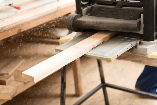 Woodworking workshop with specialised tool