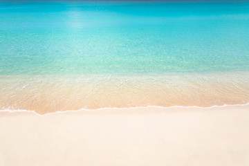 Deurstickers Strand Calm tropical beach with turquoise water