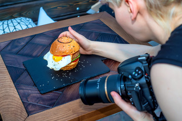 Occupation of food photographer