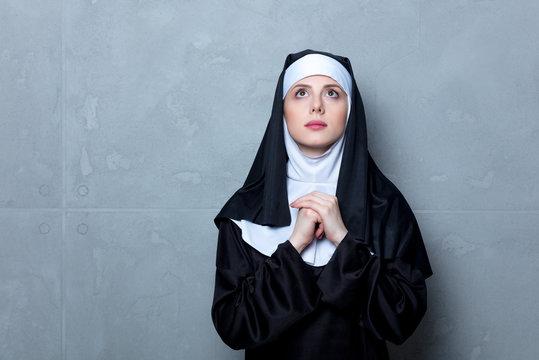Young serious nun