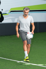 middle age soccerfootball player