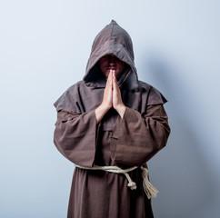 Portrait of Young catholic monk