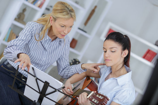 music lesson in a conservatory