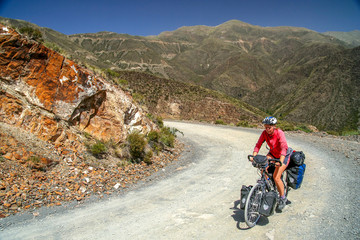 Cycling through argentinian mountains