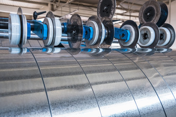 Galvanized steel strips processed on the slitting line