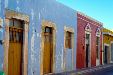 Fototapete - Colorful Street in Campeche