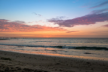 Beautiful sunset in Mancora Beach - Mancora, Peru
