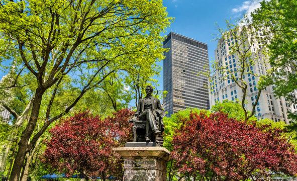 William Seward Statue at Madison Square Park in Manhattan, New York City