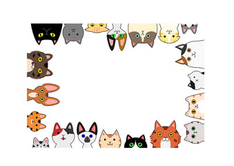 cute cats rectangle frame