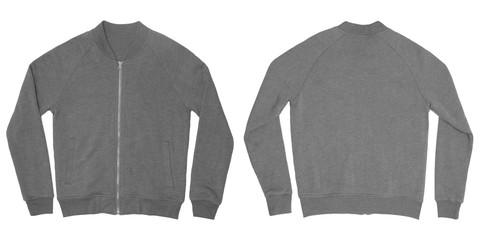 Light Grey Zip-Up Sweatshirt