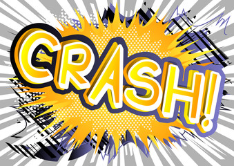 Crash! - Vector illustrated comic book style expression.