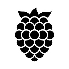 Blackberry fruit or blackberries flat vector icon for food apps and websites