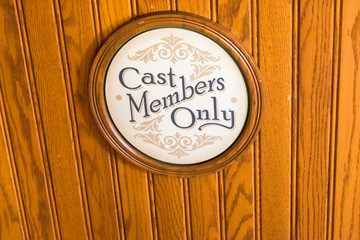 Cast members only retro sign
