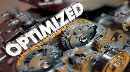 Optimized Engine Motor Power Performance 3d Illustration