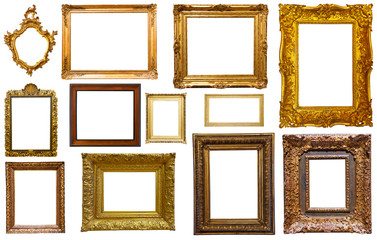 assortment of isolated frames
