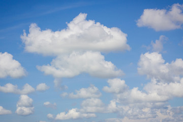 clouds in fresh blue sky