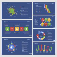 Seven Analyzing Slide Templates Set