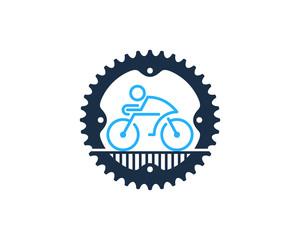 Gear Bike Icon Logo Design Element