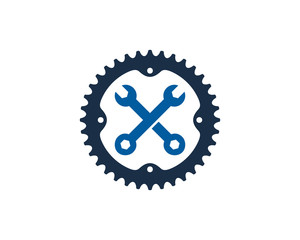 Repair Bike Icon Logo Design Element