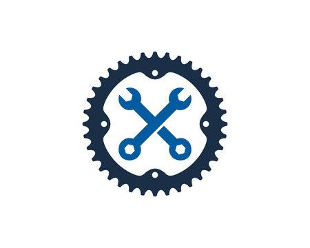 Repair Bike Icon Logo Design Element