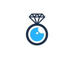 Diamond Eye Icon Logo Design Element
