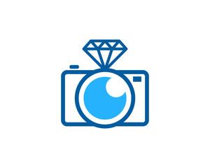 Camera Diamond Icon Logo Design Element