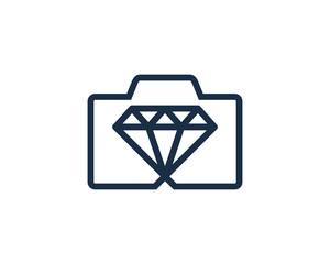 Photo Diamond Icon Logo Design Element