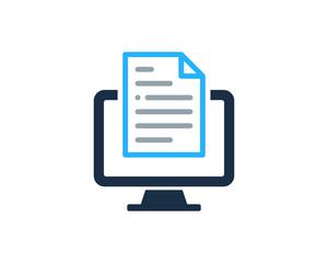 File Document Computer Icon Logo Design Element