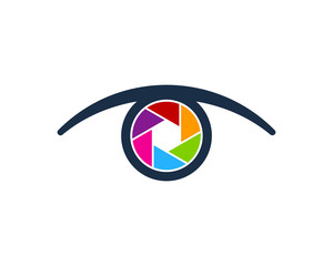Eye Camera Icon Logo Design Element