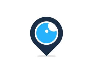Location Eye Icon Logo Design Element