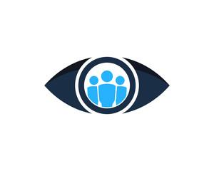 People Eye Icon Logo Design Element