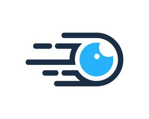 Fast Eye Icon Logo Design Element