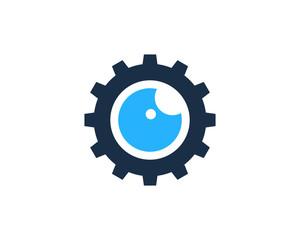 Eye Gear Icon Logo Design Element
