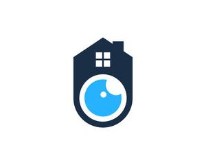 House Eye Icon Logo Design Element