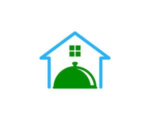 House Food Icon Logo Design Element