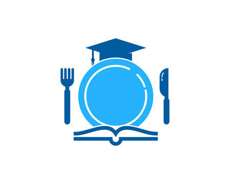 Education Food Icon Logo Design Element