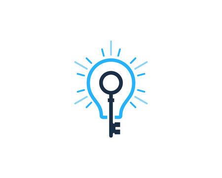 Key Idea Icon Logo Design Element