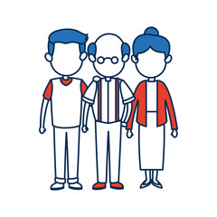 people family member together character image