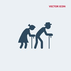 old people vector icon