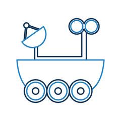 Space explorer car icon vector illustration design