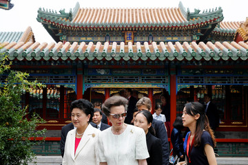 Britain's Princess Anne and Chinese Vice Premier Liu Yandong visit the Forbidden City in Beijing