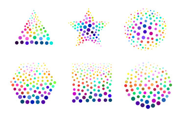 Multicolor doted texture