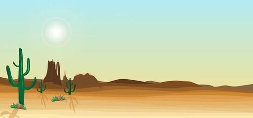 wild desert scene with cactus