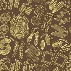 vector hand drawn dark pasta background